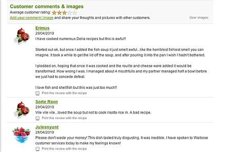 Waitrose comments