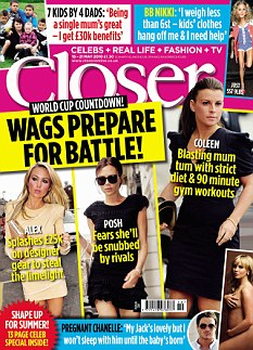 The full story appears in Closer magazine, available to buy now
