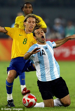 Added responsibility: Mascherano will lead Argentina in the World Cup
