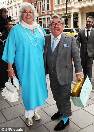 Ronnie Corbett and his wife Anne Hart