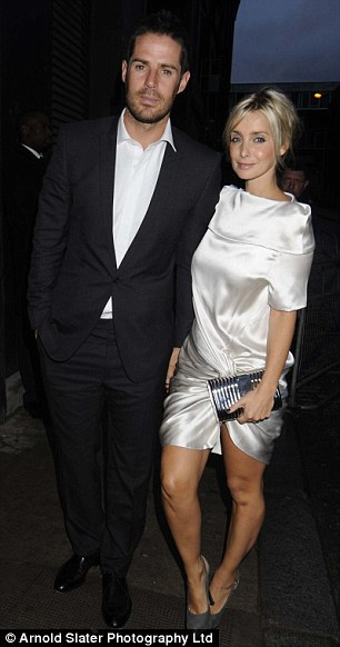 Toasting the happy couple: Jamie and Louise Redknapp and Vernon Kay and wife Tess Daly also attend the wedding bash