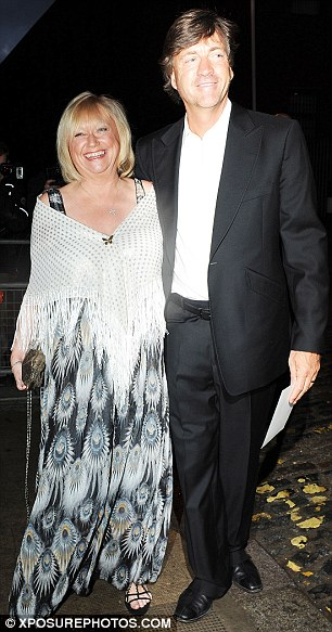 More arrivals: Actor Anthony Head and his daughter Emily are pictured as they make their into Claridges as do TV presenting couple Richard Madeley and Judy Finnegan