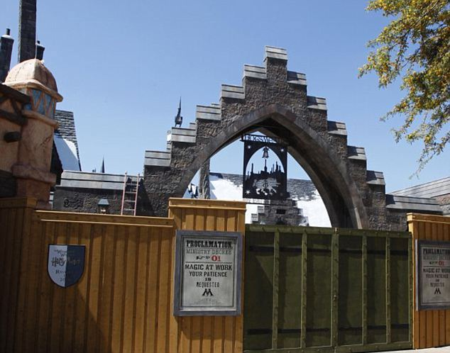 The front entrance for the Wizarding World of Harry Potter