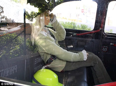 Noel's wife came up with the idea of using a shop mannequin after the Channel 4 TV star was constantly being flagged down