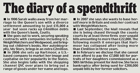 The diary of a spendthrift