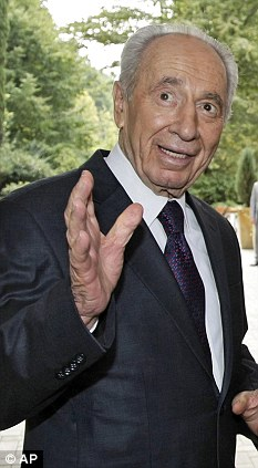 Nuclear offer: Israeli president Shimon Peres was the nation's defence minister in 1975 when he offered nuclear weapons to South Africa