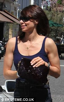 Christine Bleakley shows off her muscular arms