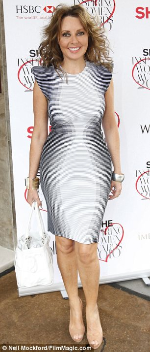 Curvy: Carol Vorderman in her Alexander McQueen dress