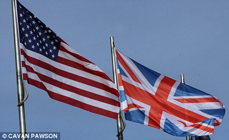 Union Jack and American flag