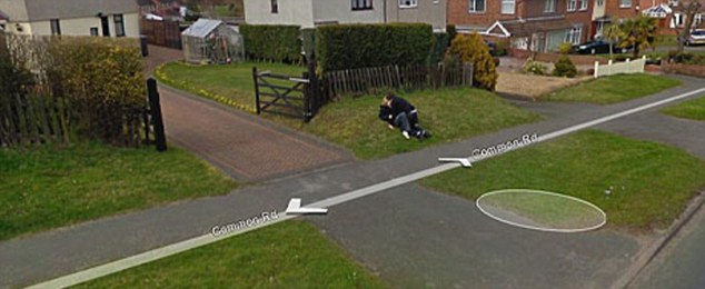 Caught on camera: This young couple were completely unaware their first kiss was captured by the Street View cameras