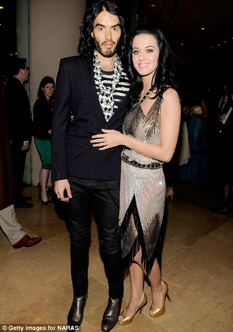 Comedian Russell Brand and singer Katy Perry
