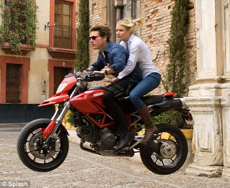 Dare-devils: Cruise and his co-star Cameron Diaz performed many of their own stunts in Knight and Day