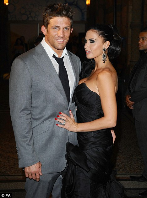New love: Katie and her second husband Alex Reid, who are to have a wedding blessing at their home on Saturday