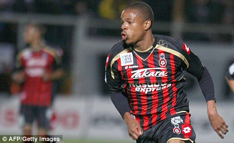 Hammer blow: Nice striker Loic Remy favours a move to Bordeaux over a big money switch to West Ham