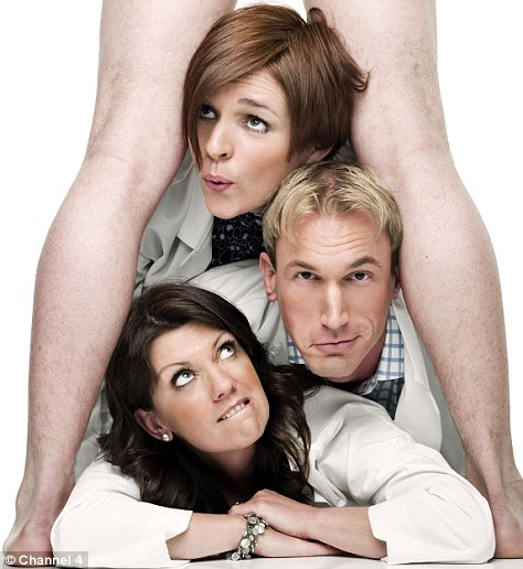 Embarrassing situation: TV's Christian Jessen with his Embarrassing Bodies doctor co-hosts Pixie McKenna, top, and Dawn Harper