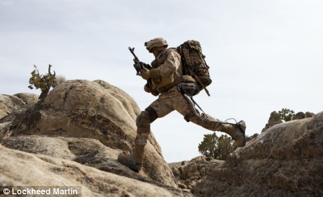 HULC can give the soldier a bursts of speed at 10 mph and will help him carry massive loads