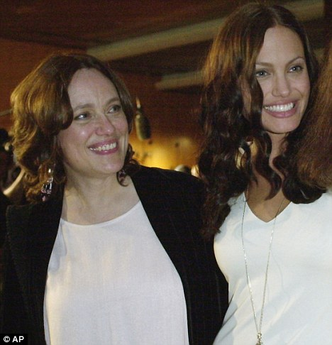 Angelina Jolie and Marcheline Bertrand