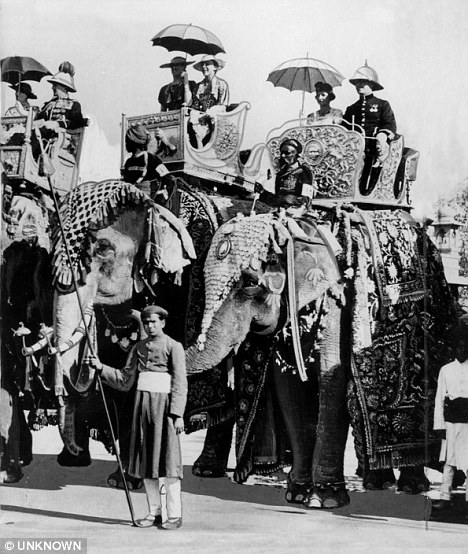 Days of glory: The Viceroy of India, Lord Linlithgow, at the Golden Jubilee celebrations of the Maharaja