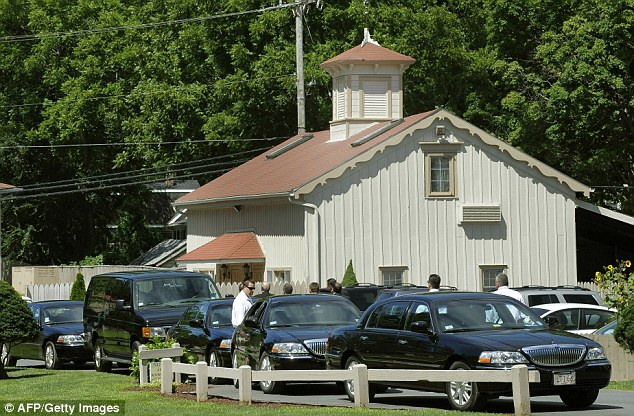 Line up: limousines wait outside a hotel in Rhinebeck this morning