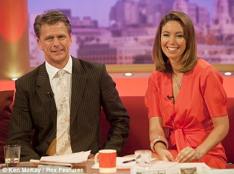 Morning watch: Emma in the GMTV studio with 'pillar of strength', Andrew Castle