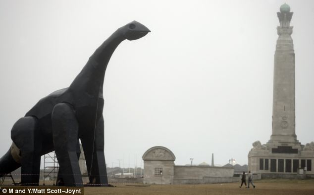 Dinosaur on Southsea Common