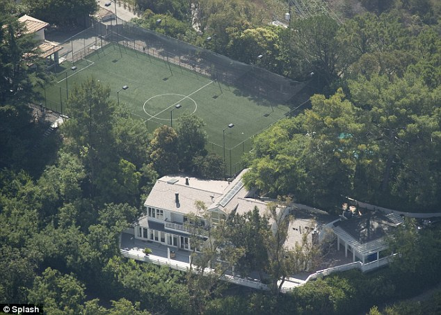 Luxury pad: The singer is rumoured to have chosen his Hollywood home as the location for his nuptials