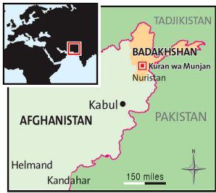 Afghan map