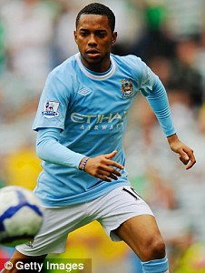 Robinho signed for Manchester City - despite what Chelsea's website indicated