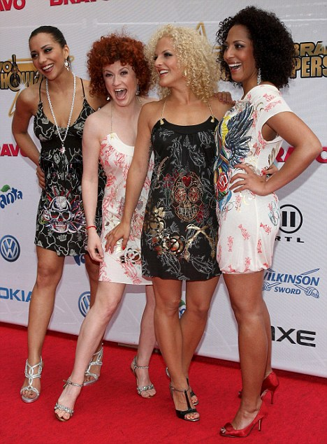 Appearing for a TV performance in Nuremberg, the four members of the group were in their heyday compared to the Spice Girls or Girls Aloud. L-R Nadja Benaissa, Lucy Diakowska, Sandy M lling, and Jessica Wahls
