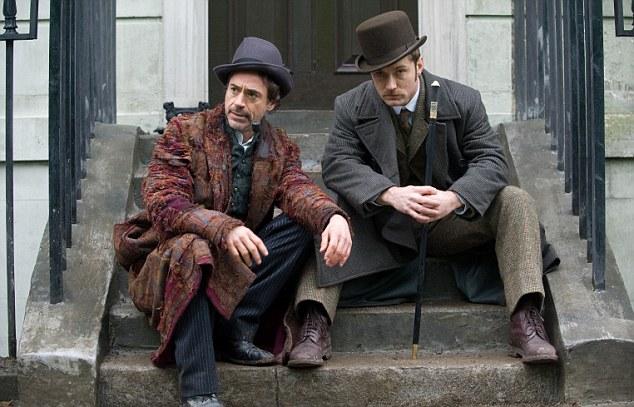 Robert Downey Jr and Jude Law in Sherlock Holmes