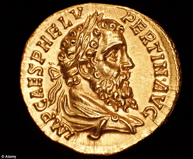 High-ranking: A coin featuring the head of Pertinax Publius Helvius after he was made Roman Emperor in AD193
