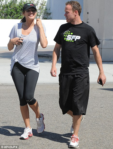 It takes a lot of work to look like this! Kelly went to the gym with her personal trainer today ahead of the red carpet event