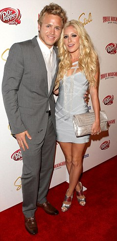 Scandal: Spencer Pratt is reportedly planning to release a sex tape featuring him and estranged wife  Heidi Montag