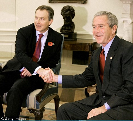 Friends: Blair was 'wowed by Bush's strength, courage and conviction and saw him as a highly intelligent and visionary friend'