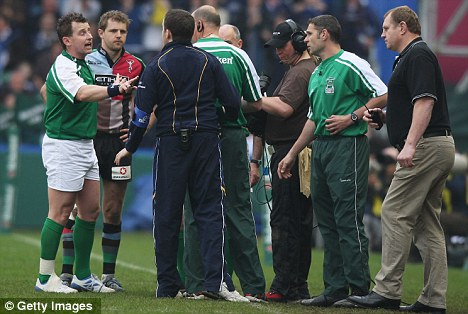 Rumbled: Leinster alerted officials to the incident during the Heineken Cup quarter final at The Stoop
