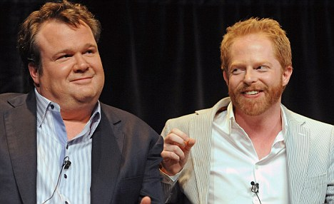 Big kiss coming: Modern Family's Cam and Mitchell will finally get their television kiss