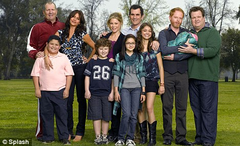 Modern family: While the gay marriage issue has split the country, America is united in its love of the hit show