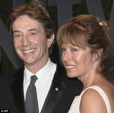 Married for 30 years: Martin Short and his wife Nancy Dolman arrive at the Vanity Fair Oscar party in West Hollywood, California last year
