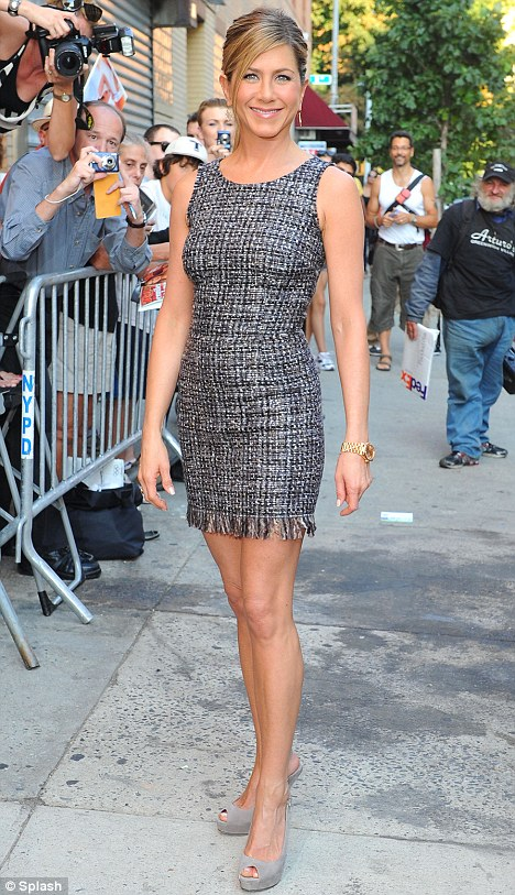 Baring all? Jennifer Aniston, pictured in New York last week, is set to go topless in new film Wanderlust