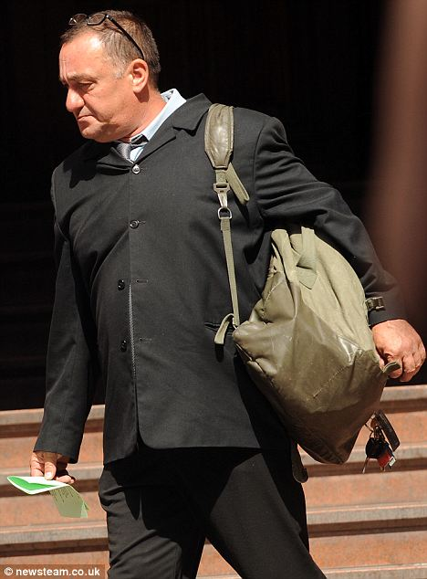 Andrew Nicklin leaving Birmingham Magistrates Court. The court heard that Mr Nicklin recorded the barking of his neighbour's dog and replayed it at high volume in the dead of night