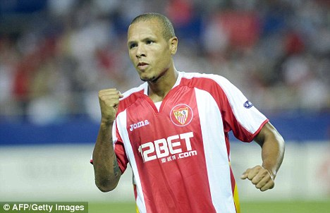 No-go: Luis Fabiano has signed a new deal at Sevilla