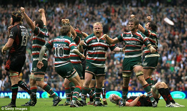 Treble boost: Will Leicester Tigers make it three Premiership titles in a row?