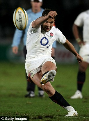 Bum deal: Olly Barkley won the last of his 23 caps against the All Blacks in 2008