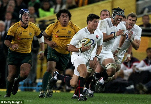 Turning a corner?: Ben Youngs breaks to score the first try in the ANZ Stadium during England's 21-20 victory