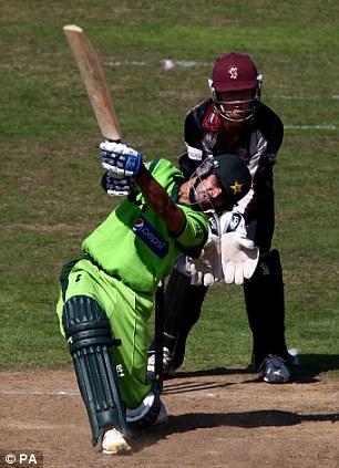 Good knock: Fawad Alam hit 97 runs