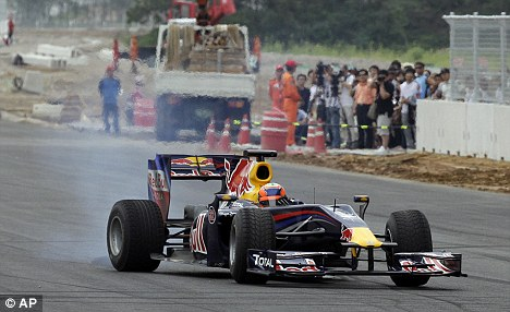 Interesting: Chandhok became the first Formula One driver on the fledgling circuit