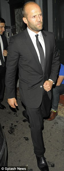 Unofficial afterparty: Jason Statham (left) and Dominic Cooper arrived at the Groucho club after the event