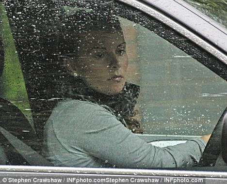Troubled: Coleen leaves her parents house in Liverpool yesterday