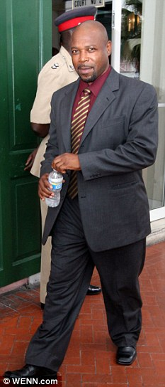 Witness: Former paramedic Tarino Lightbourne outside court for the collapsed trial against him for trying to extort at least $25million from Travolta