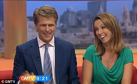 Time to say goodbye: Andrew Castle and Emma Crosby presented the last ever episode of GMTV on September 3
